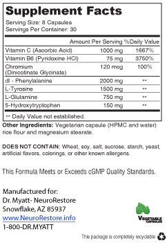 NeuroTonin Nutrition Facts